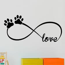 Decalthewalls Infinity Love Symbol With Pet Paws Vinyl Wall Decal Reviews Wayfair