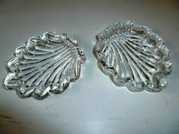 glass trinket box covered scallop shell