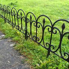 Black Victorian Edging Picket Garden Grass Lawn Border Plants Fence Panels Wall 9 99 Picclick Uk