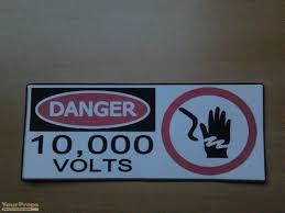 Jurassic Park Danger 10 000 Volts Fence Sign Replica Movie Prop