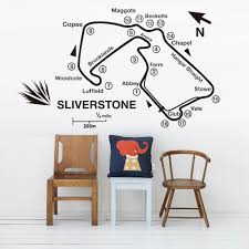 Kids Room Wall Stickers Silverstone Race Track Circuit Map Vinyl Wall Decal Home Decoration For Living Room Playing Room Z089 Wall Stickers Aliexpress