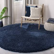 large round blue rugs com