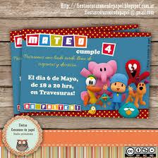 Invitaciones De Cumpleanos De Pocoyo
