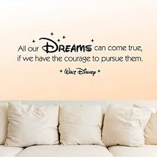 Amazon Com Wall Decal Vinyl Sticker Decals Art Decor Design Signs All Your Dreams Come True Walt Disney Baby Nursery Family Home Bedroom R341 Home Kitchen