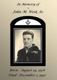 """John Martin """"Jackie"""" West Sr. (1923-1997) - Find A Grave Memorial"""