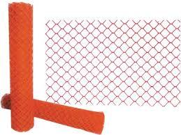 Presco 4 X 100 Orange Diamond Heavy Duty Safety Fence White Cap