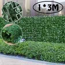 1 3m Artificial Seeding Privacy Fence Screen Faux Sweet Leaf Screening Hedge For Outdoor Decor Garden Backyard Patio Decoration Artificial Lawn Aliexpress