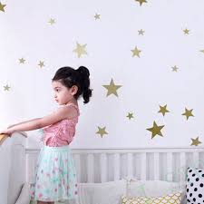 Wall Stickers Stars For Kids Rooms Golden Star Gold Wall Decal Art Decor Wall Sticker Stars Stickers Starsgold Wall Decal Aliexpress