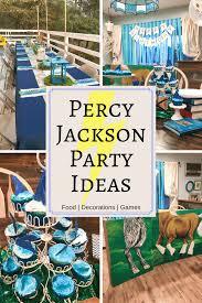 percy jackson party ideas food