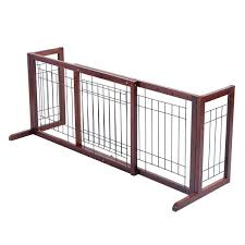 Shop Costway Wood Dog Gate Adjustable Indoor Solid Construction Pet Fence 40 71 X 17 7 X 21 Overstock 27603058