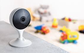 Premium Photo Portable Camera Security Monitoring Playing Room For Kids