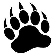 Grizzly Bear Paw Print 3 5 Black Vinyl Decal Window Sticker For Laptop Ipad Window Wall Car Truck Motorcycle Bear Paw Print Bear Paw Tattoos Bear Paws