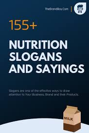 179 best nutrition slogans and sayings