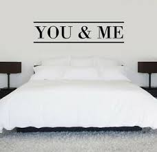 You Me Vinyl Wall Decal Bedroom Love Quote Ebay