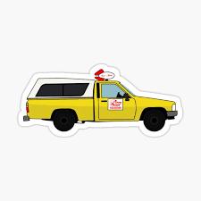Pizza Planet Truck Sticker By Izacless Redbubble