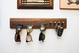 solid wood walnut sunglass hanger