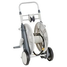 practica hose reel cart with hose guide