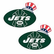 Ny Jets Yankee Hat Alt Logo Cornhole Board Decals New 10 X 8 Large Set Of 2 Ebay