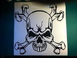 Skull And Crossbones Hood Decal Car Truck Trailer Large Graphic Vinyl Sticker Ebay