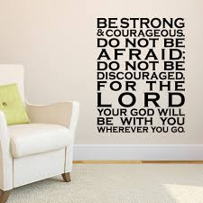 Joshua 1v9 Vinyl Wall Decal 30 Be Strong And Courageous Do Not Be
