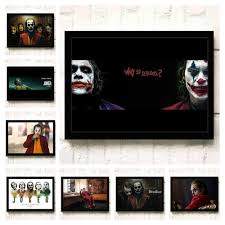 Joker 2019 Joaquin Phoenix Heath Ledger DC Bộ Phim Truyện Tranh Treo Tường  Tranh Nghệ Thuật In Trên Vải Phòng Khách Poster Hình Nhà trang Trí 