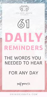 simple daily reminders for a happy life