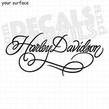 Harley Davidson Fancy Script Vinyl Decals And Paint Stencils