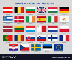countries flags europe travel vector image