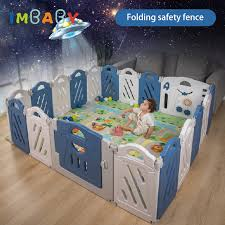 Detachable Playpen Bebe Pool Set Child Safety Fence For Babies Children Playpen Safe Crawling Playpen Baby Foldable Child Safety Barrier With 10 Ball Playpens