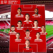 Саутгемптон» — «Арсенал». Предполагаемые составы команд от ...
