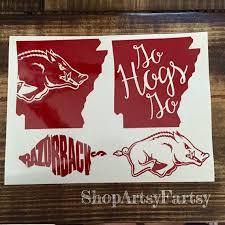 Arkansas Razorbacks Decal Arkansas Razorbacks Crafts Monogram Vinyl Decal Vinyl Art
