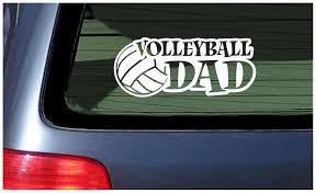 Volleyball Dad Vinyl Decal Sticker White Spirit Ball School Team Fun Sports Ebay