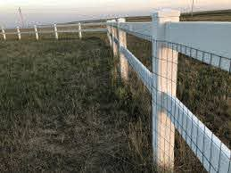 Wire On Vinyl Fence Professional Install Gallery The Fence Clamp