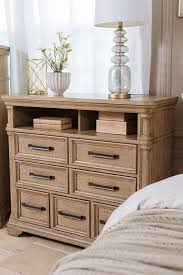 42 transitional six drawer media chest