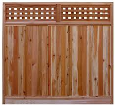 Amazon Com Signature Development 6 Ft H X 6 Ft W Western Red Cedar Checker Lattice Top Fence Panel Kit Garden Outdoor