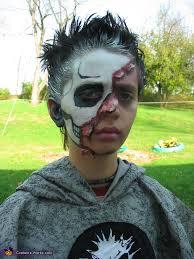 skull half face costume diy costumes