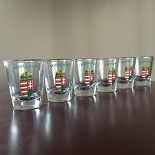 hungarian crest shot glass set of six