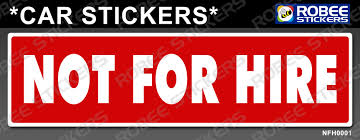 Sticker Decal Not For Hire Red Straight Cut Lazada Ph
