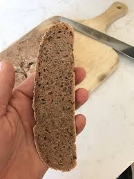 homemade spelt bread with flax seeds