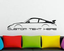 Large Custom Car Silhouette Wall Sticker For Porsche 944 Etsy
