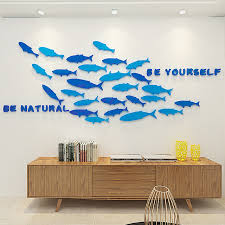 3d Fish Wall Stickers Plane Wall Stickers Decorative Wall Stickers Acrylic 8060541 2020 33 34