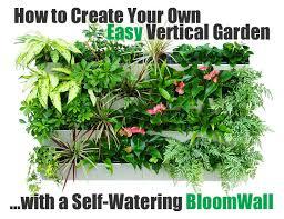 vertical garden with a bloomwall