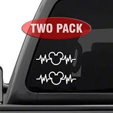 Amazon Com Decal Addiction Inc Disney Passholder Logo Disneyland Disneyworld White Vinyl Car Laptop Window Wall Decal Automotive