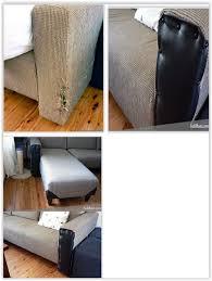 repairing a cat scratched sofa
