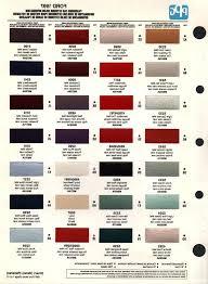 automotive interior paint colors