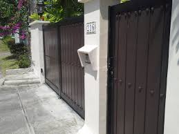 Modern Entrance Gate Cavitetrail Glass Railings Philippines Tempered Glass Wrought Iron Railings Gates Grills Metal Fabrication Curved Glass