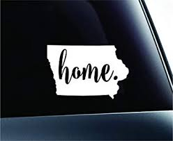Amazon Com 3 Home Iowa State Des Moines Symbol Sticker Decal Car Truck Window Computer Laptop White Automotive