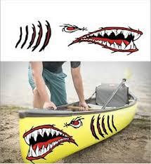 Shark Teeth Mouth Decal Gills Eyes Sticker Kayak Canoe Hobie Dagger Ocean Boat Ebay