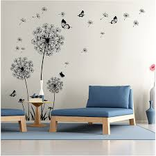 Amazon Com Dooboe Dandelion Wall Decal Wall Stickers Dandelion Art Decor Vinyl Large Peel And Stick Removable Mural Home Kitchen