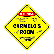 Carmelo S Room Decal Crossing Xing Kids Bedroom Door Children S Name Boy Girl Walmart Com Walmart Com